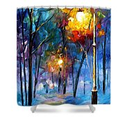 Light Of Luck - Palette Knife Oil Painting On Canvas By Leonid Afremov Shower Curtain