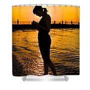 Light Of My Life Shower Curtain by Frozen in Time Fine Art Photography