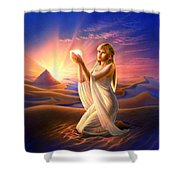 Light Of The Sands Shower Curtain