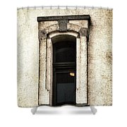 Light On In  Lighthouse Window Shower Curtain
