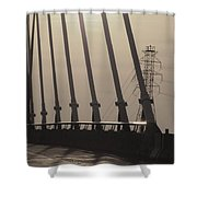 Light On The Bridge Shower Curtain