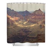 Light On The Canyons Shower Curtain