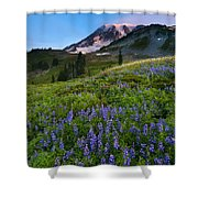 Light On The Mountain Shower Curtain