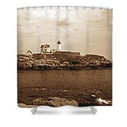 Light On The Nubble Shower Curtain by Skip Willits