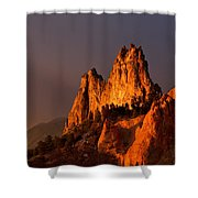 Light On The Rocks Shower Curtain