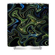 Light Painting 4 Shower Curtain by Delphimages Photo Creations