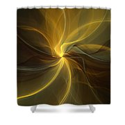 Light Painting Shower Curtain