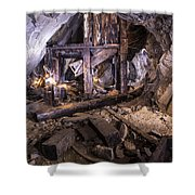 Light Painting In A Gold Mine 2 Shower Curtain