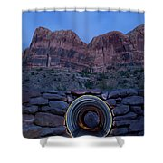 Light Painting Inside A Round Tunnel Shower Curtain