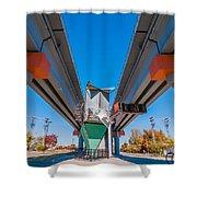 Light Rail Train Station In   Charlotte Nc Shower Curtain