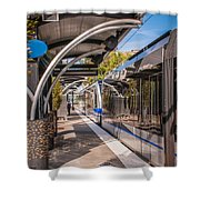 Light Rail Train System In Downtown Charlotte Nc Shower Curtain