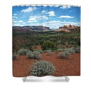 Light Shines On Cathedral Rock Shower Curtain