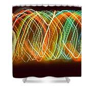 Light Show I Shower Curtain