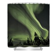 Light Swirls Over The Midnight Dome Shower Curtain