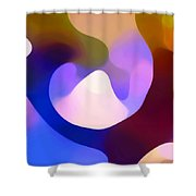 Light Through Branch Shower Curtain by Amy Vangsgard