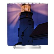 Light Up The Ocean And Sky Shower Curtain