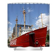 Light Vessel Baltimore Harbor Shower Curtain
