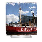 Light Vessel Chesapeake - Baltimore Harbor Shower Curtain