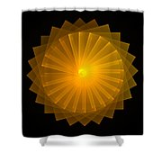Light Wheel Shower Curtain