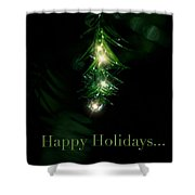 Lighted Dewdrops Holiday Greeting Card Shower Curtain