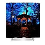 Lighted Gazebo Sunset Park Shower Curtain