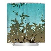 Torquoise Haiku Shower Curtain