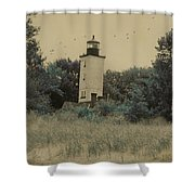 Erie Lighthouse Among The Trees Shower Curtain