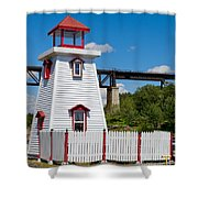 Lighthouse And Bridge Shower Curtain