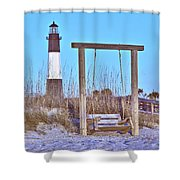 Lighthouse And Swing Shower Curtain