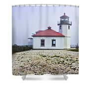 Lighthouse At Alki Beach Shower Curtain