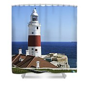 Lighthouse At Europa Point Gibraltar Shower Curtain