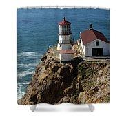 Lighthouse At Point Reyes Shower Curtain