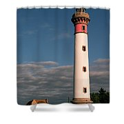 Lighthouse At Ouistreham Shower Curtain