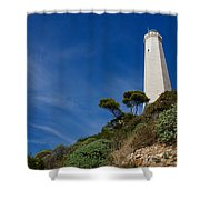 Lighthouse At Saint-jean-cap-ferrat France French Riviera Shower Curtain
