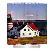 Lighthouse At West Quoddy Head Shower Curtain