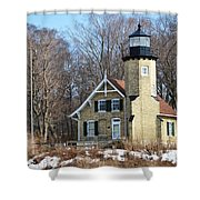 Lighthouse At White River Shower Curtain