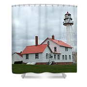 Lighthouse At Whitefish Shower Curtain