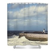 Lighthouse At Whitehaven Shower Curtain
