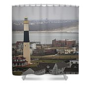 Lighthouse - Atlantic City Shower Curtain
