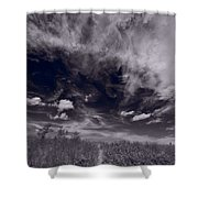 Lighthouse Beach Dunes Bw Shower Curtain by Steve Gadomski