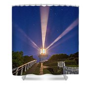 Lighthouse Beams By The Southern Cross Shower Curtain