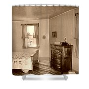 Lighthouse Bedroom In Sepia Shower Curtain