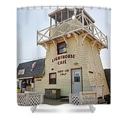 Lighthouse Cafe In North Rustico Shower Curtain