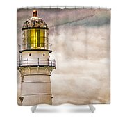 Lighthouse Cape Elizabeth Maine Shower Curtain