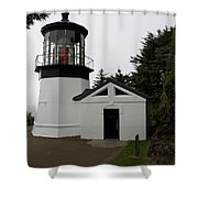 Lighthouse Cape Meares Shower Curtain