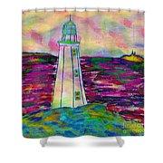 Lighthouse Digital Color Shower Curtain