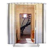 Lighthouse Door Shower Curtain