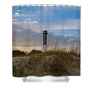 Lighthouse Dunes Shower Curtain
