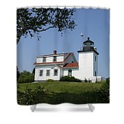 Lighthouse Fort Point Shower Curtain
