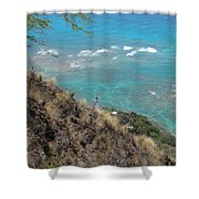Lighthouse From Above Shower Curtain